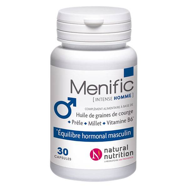 Natural Nutrition Menific Intense Homme 30 capsules