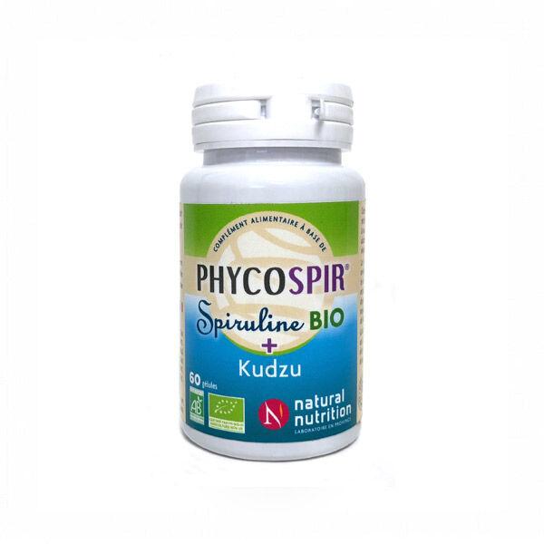 Natural Nutrition Spiruline Phycospir Bio + Kudzu 60 gélules