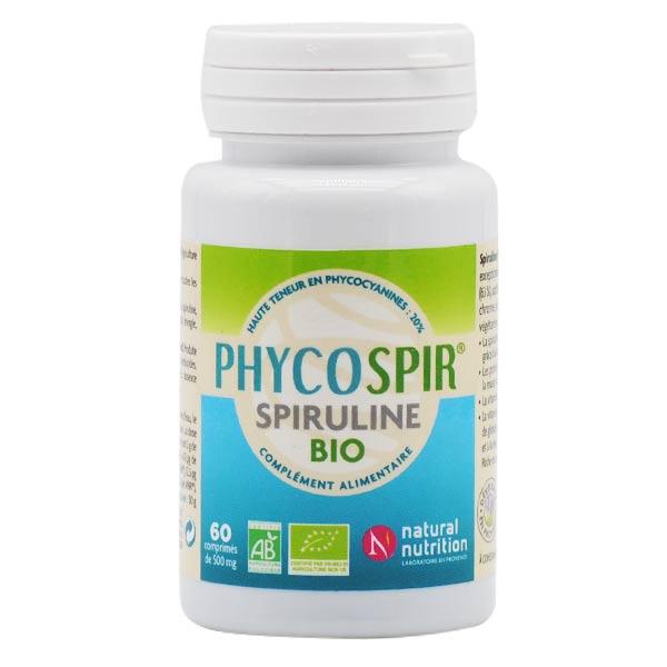 Natural Nutrition Phycospir Spiruline Bio 60 comprimés
