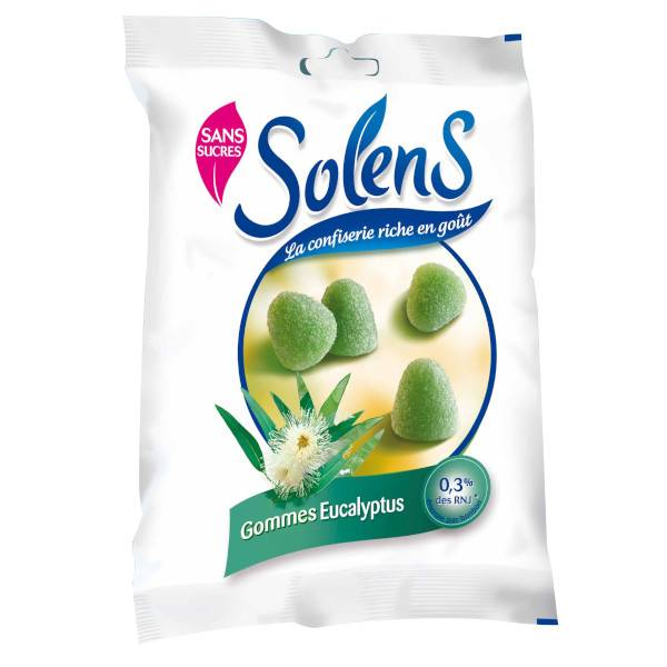 Solens Gommes sans Sucres Eucalyptus 100g
