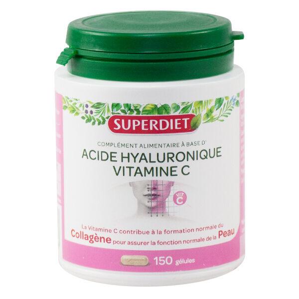 Superdiet Acide Hyaluronique + Vitamine C 150 gélules