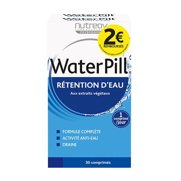 Nutreov Physcience WaterPill Rétention d'Eau Lot de 2 x 30 comprimés - BRD 2€