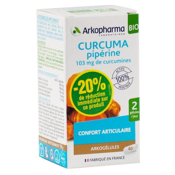 Arkogélules Curcuma Pipérine Bio 40 gélules BRI -20%