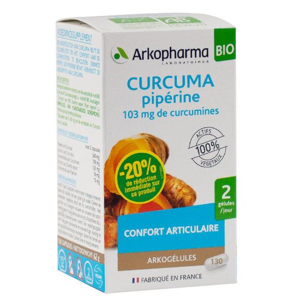 Arkogélules Curcuma Pipérine Bio 130 gélules - BRI 20%