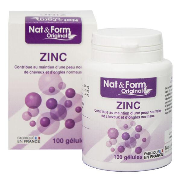 Nat & Form Les Oligo-Elements et Vitamines Zinc 100 gélules