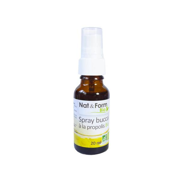 Nat & Form Spray Buccal à la Propolis Bio 20ml