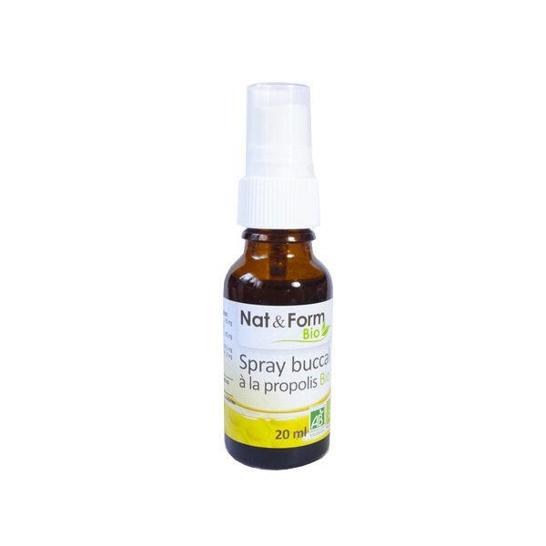Nat & Form Spray Buccal à la Propolis Bio 20ml