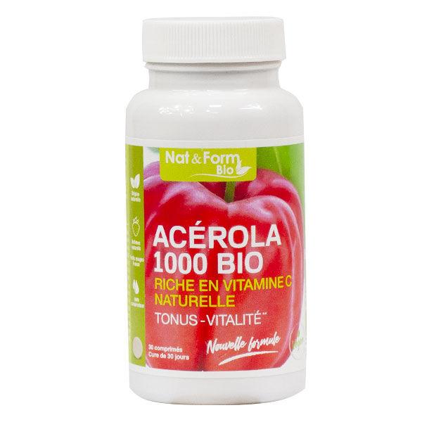 Nat & Form Acerola 1000 Bio 30 comprimés