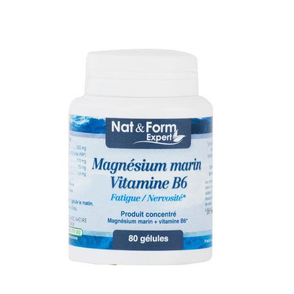 Nat & Form Magnésium Marin Vitamine B6 80 gélules