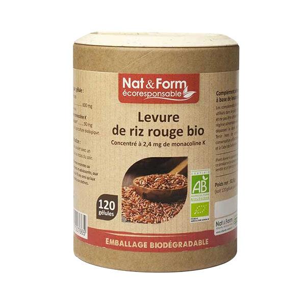 Nat & Form Eco Responsable Levure de Riz Rouge Bio 120 gélules
