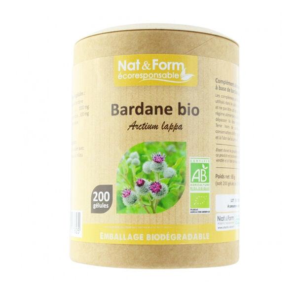 Nat & Form Eco Responsable Bardane Bio 200 gélules