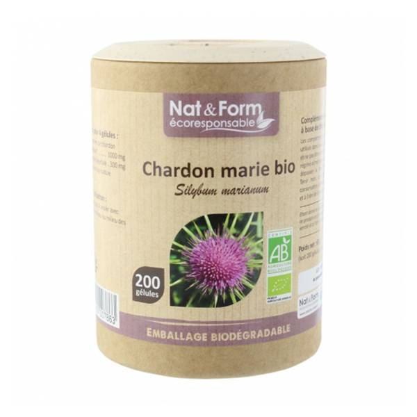 Nat & Form Eco Responsable Chardon Marie 200 gélules