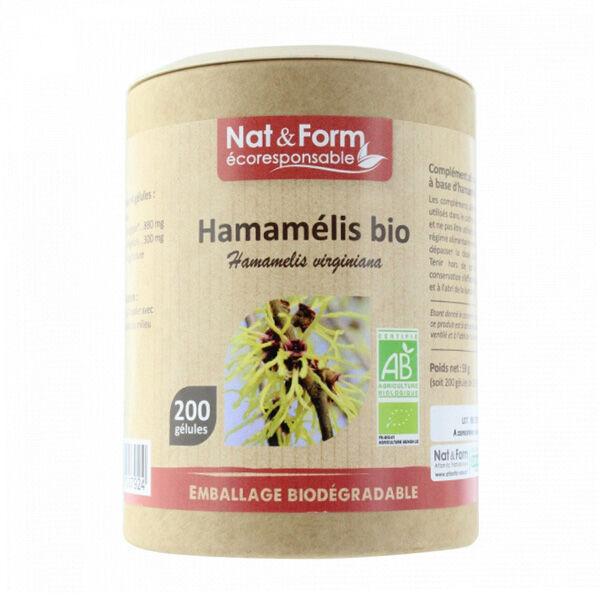 Nat & Form Eco Responsable Hamamélis Bio 200 gélules
