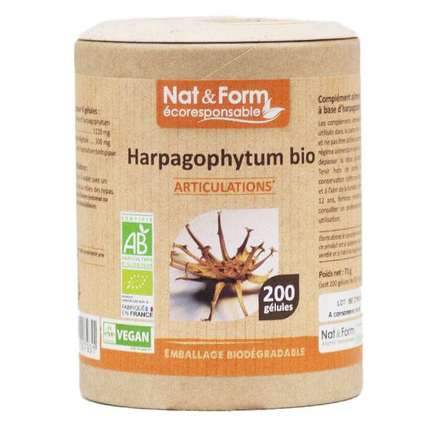 Nat & Form Eco Responsable Harpagophytum Bio 200 gélules