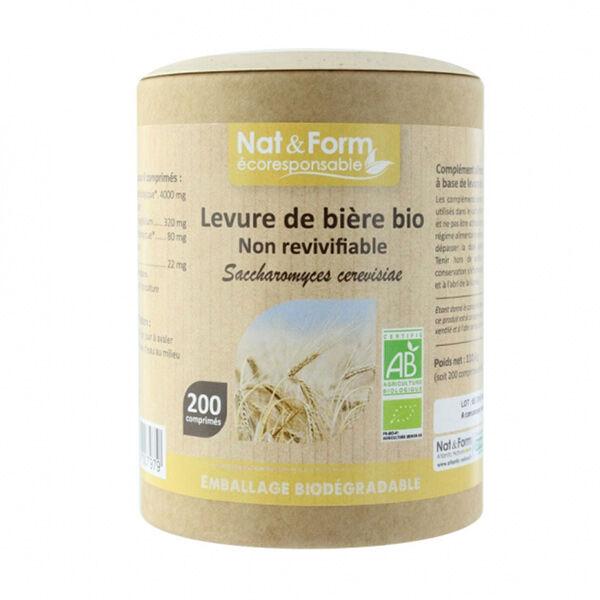 Nat & Form Eco Responsable Levure de Bière Bio 200 comprimés