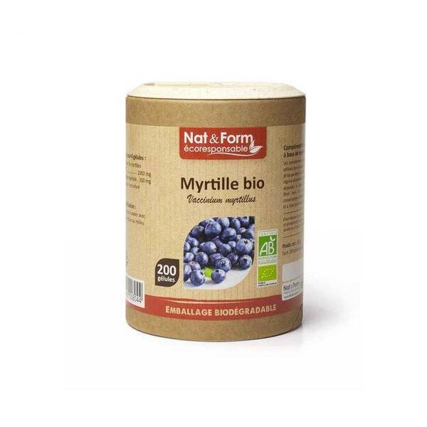 Nat & Form Eco Responsable Myrtille Bio 200 gélules