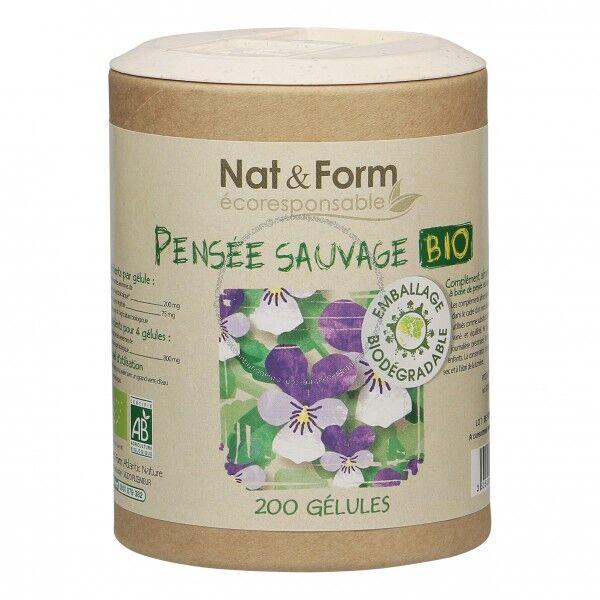Nat & Form Eco Responsable Pensée Sauvage Bio 200 gélules