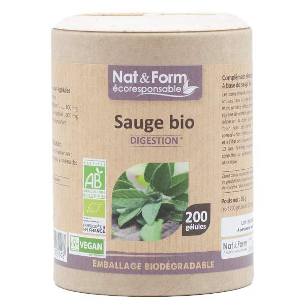 Nat & Form Eco Responsable Sauge Bio 200 gélules