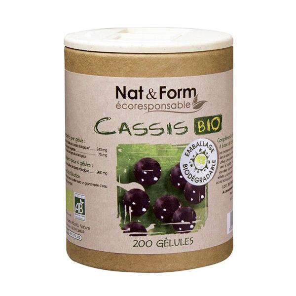 Nat & Form Eco Responsable Cassis Bio 200 gélules