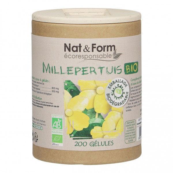 Nat & Form Eco Responsable Millepertuis Bio 200 gélules