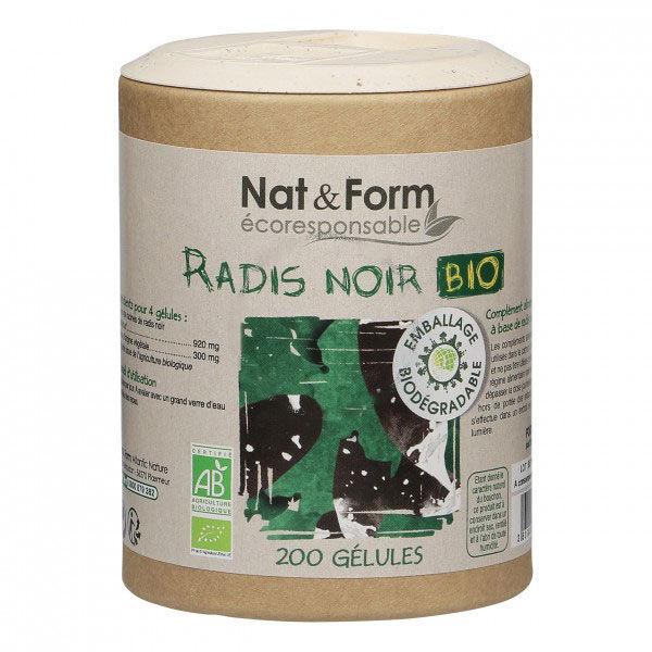 Nat & Form Eco Responsable Radis Noir Bio 200 gélules