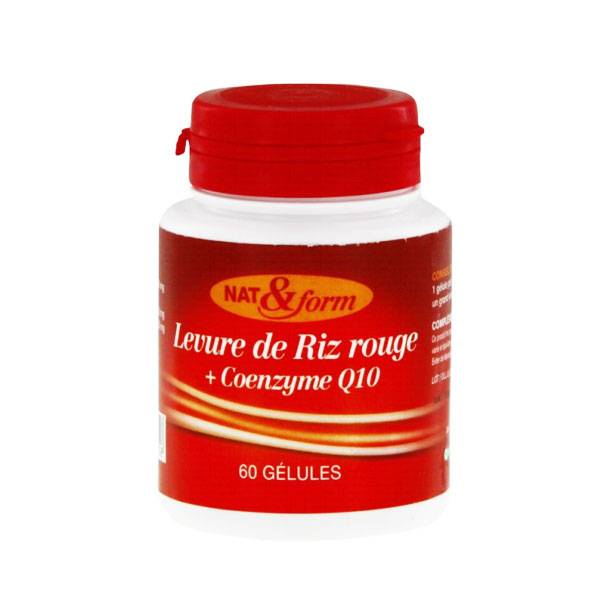 Nat & Form Levure de Riz Rouge + Coenzyme Q10 60 gélules