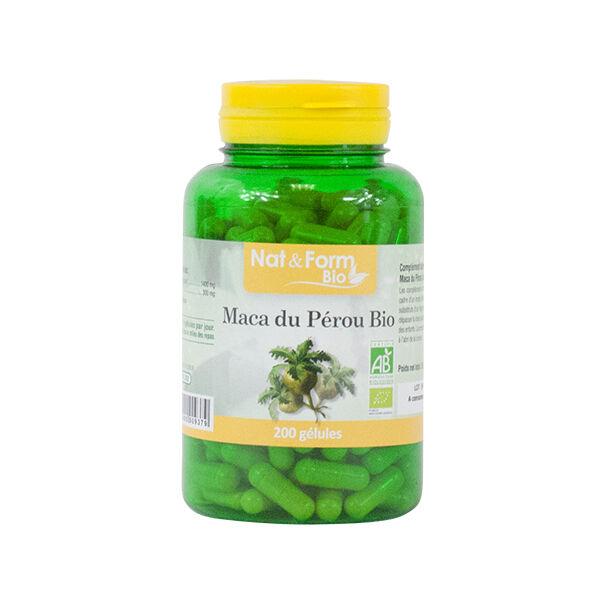 Nat & Form Maca du Pérou Bio 200 gélules