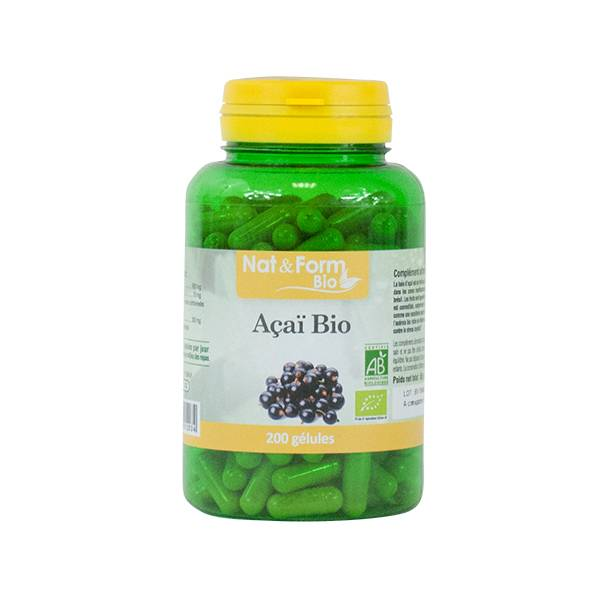Nat & Form Açai Bio 200 gélules