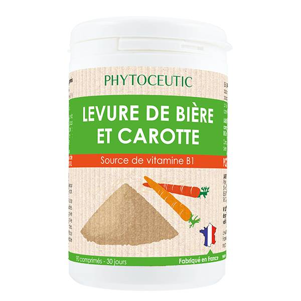 Phytoceutic Levure de Bière et Carotte Bio 90 comprimés