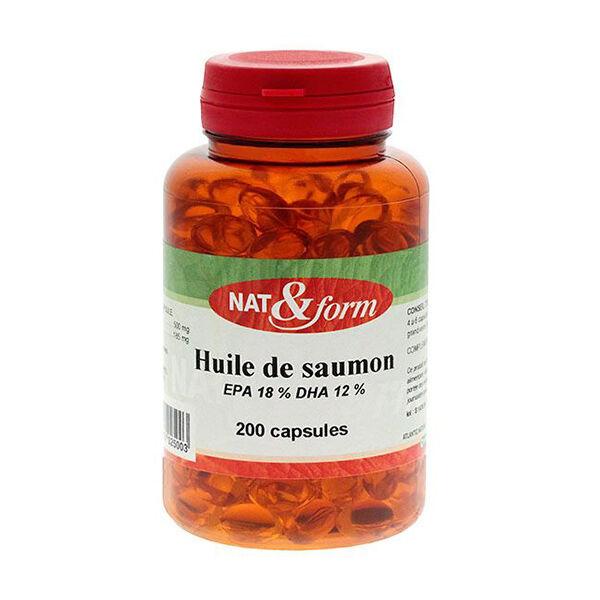 Nat & Form Naturellement Huile Saumon 200 capsules