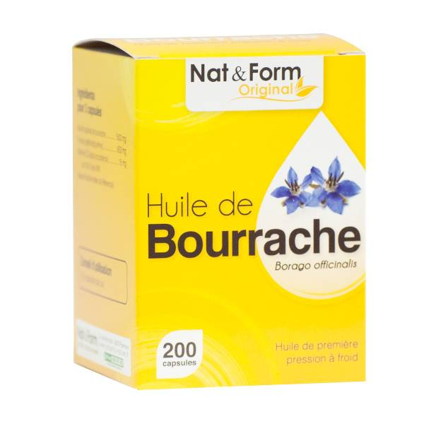 Nat & Form Naturellement Huile Bourrache + Vit E 200 capsules