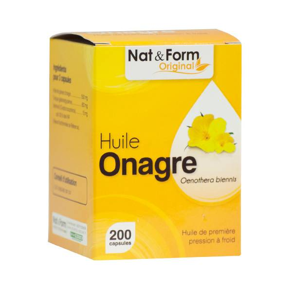 Nat & Form Original Huile Onagre + Vit E 200 capsules