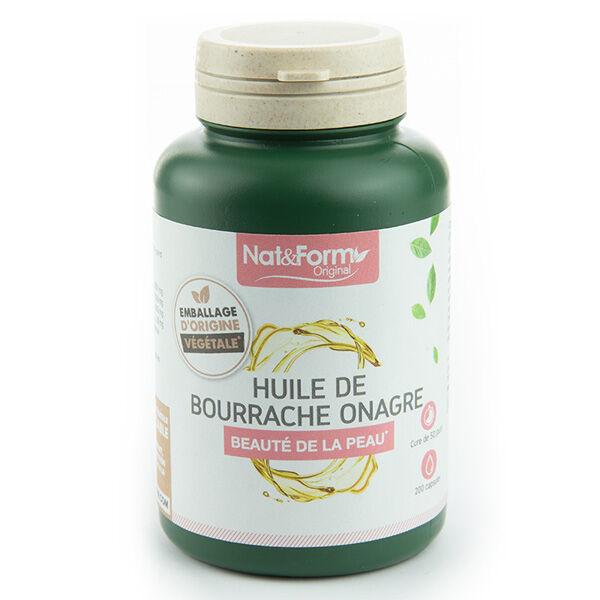 Nat & Form Original Huile Bourrache Onagre + Vit E 200 capsules