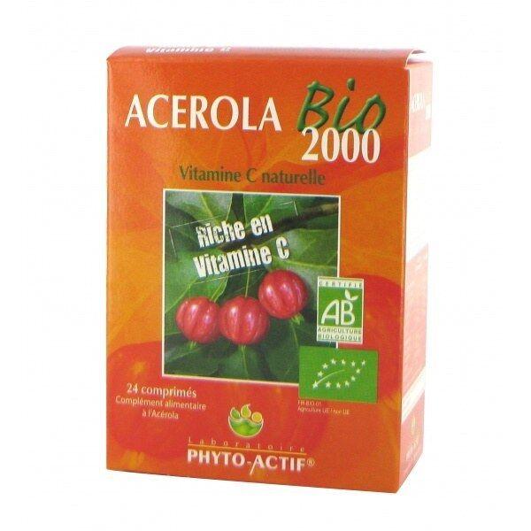 Phytoactif Acérola bio 2000 24 comprimés à croquer