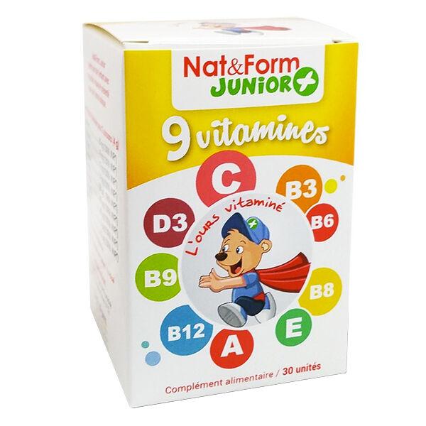 Nat & Form Junior+ 9 Vitamines 30 oursons