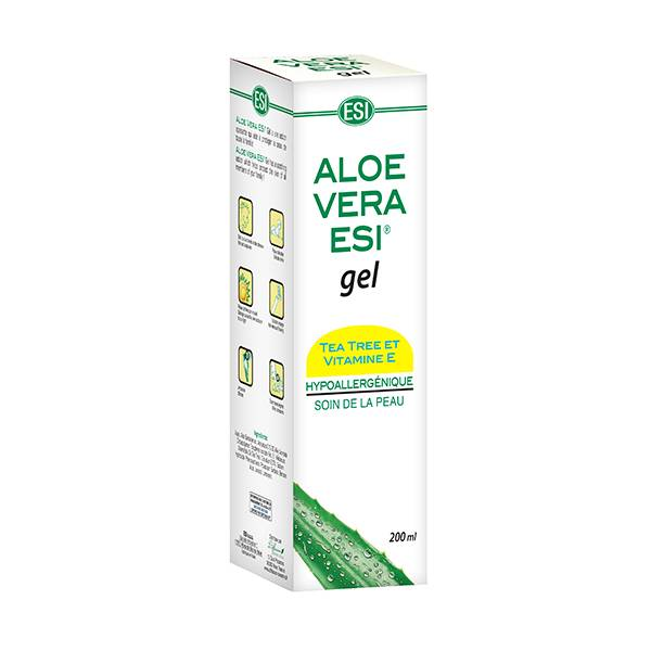 4300134 ESI Aloe Vera Gel Tea Tree et Vitamine E 200ml