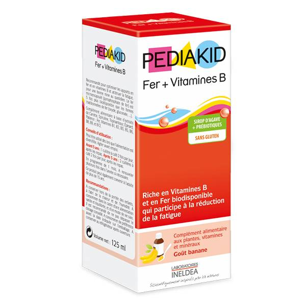 4394390 Pediakid Fer+Vitamines B 125ml