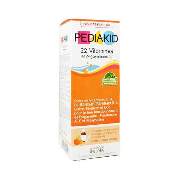 6357648 Pediakid 22 Vitamines et Oligo-Eléments 250ml