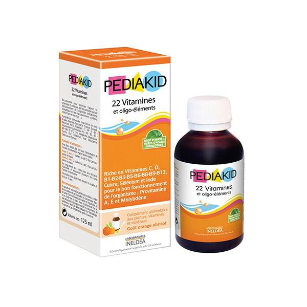 7936710 Pediakid 22 Vitamines et Oligo-Eléments 125ml