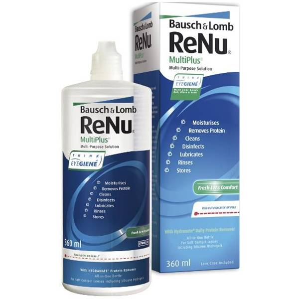 Bausch & Lomb Renu Multiplus Solution Multifonction 360ml