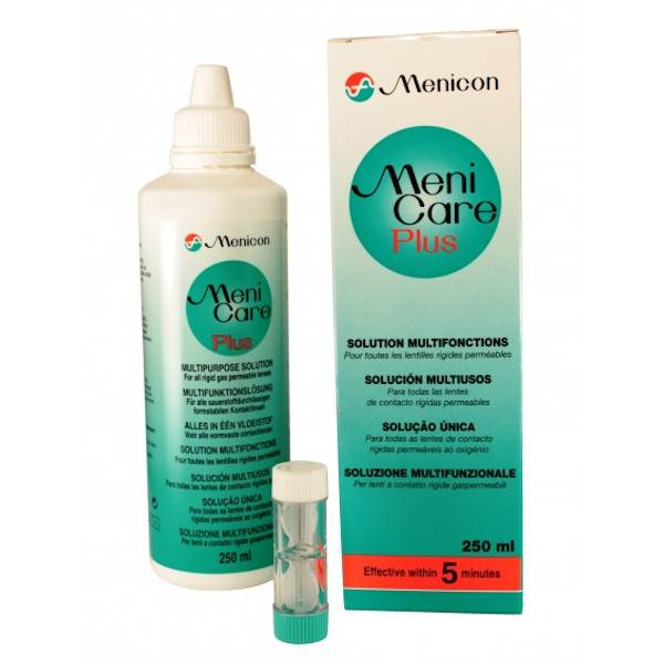 Menicon Menicare Plus Solution Multifonctions Lentilles de Contact 250ml