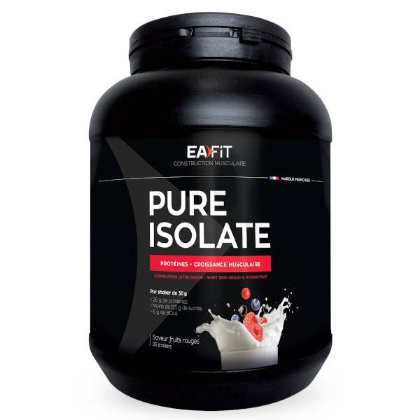 Eafit Pure Isolate Goût Fruits Rouges 750g