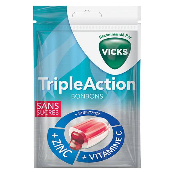 Vicks Bonbons Triple Action 72g