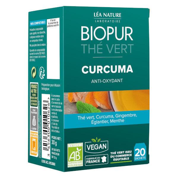 Biopur Thé Vert Curcuma Anti-Oxydant 20 sachets