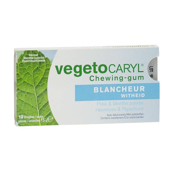 VegetoCaryl Chewing-gum Blancheur 12 dragées