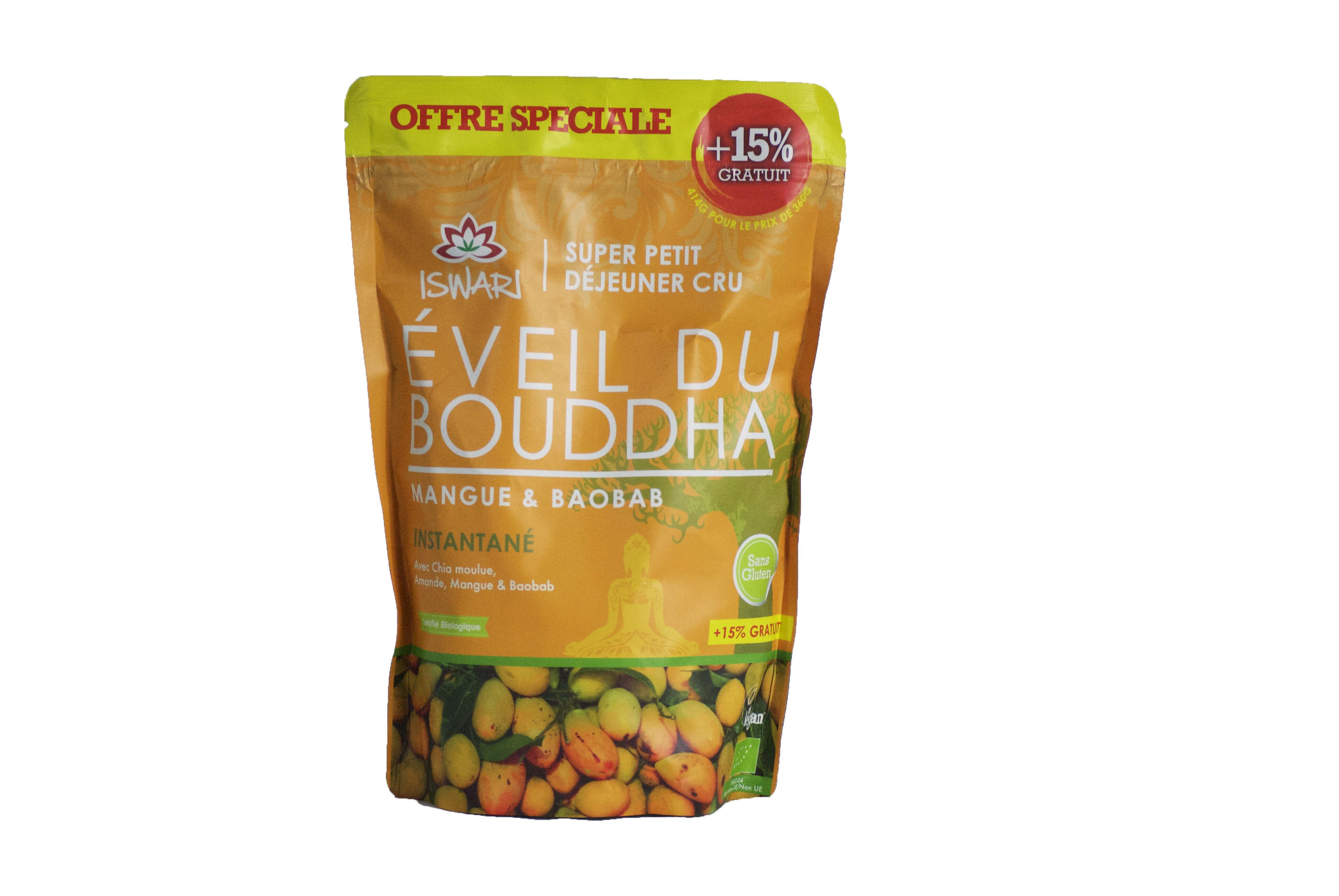 Iswari Eveil du Bouddha Mangue et Baobab 360g + 15 % Offert