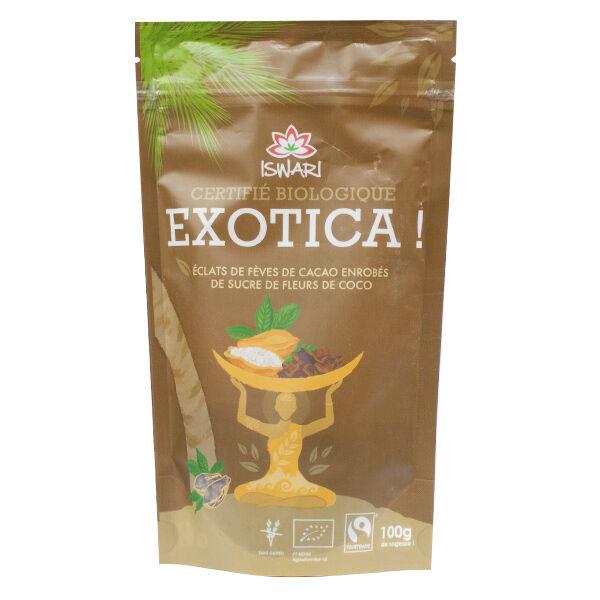 Iswari Exotica! Fèves de Cacao Enrobées de Sucre de Fleurs de Coco Bio 100g