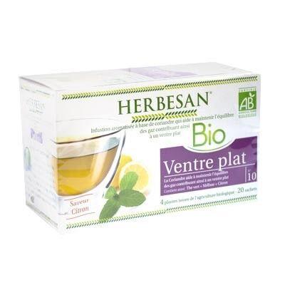 Herbesan Bio Infusion Ventre Plat Saveur Citron n°10 - 20 sachets