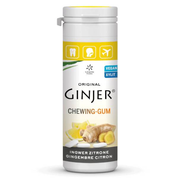 Lemon Pharma Ginjer Chewing Gums Gingembre Goût Citron 30g