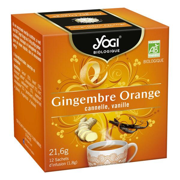 Yogi Biologique Infusions Gingembre Orange 12 sachets
